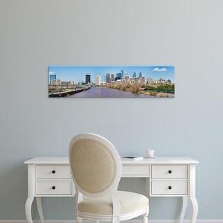 Easy Art Prints Panoramic Images's 'Skyscrapers, Liberty Tower, Comcast Center, Philadelphia, Pennsylvania' Canvas Art