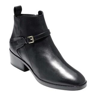 Cole Haan Women's Etta Bootie II Black Leather