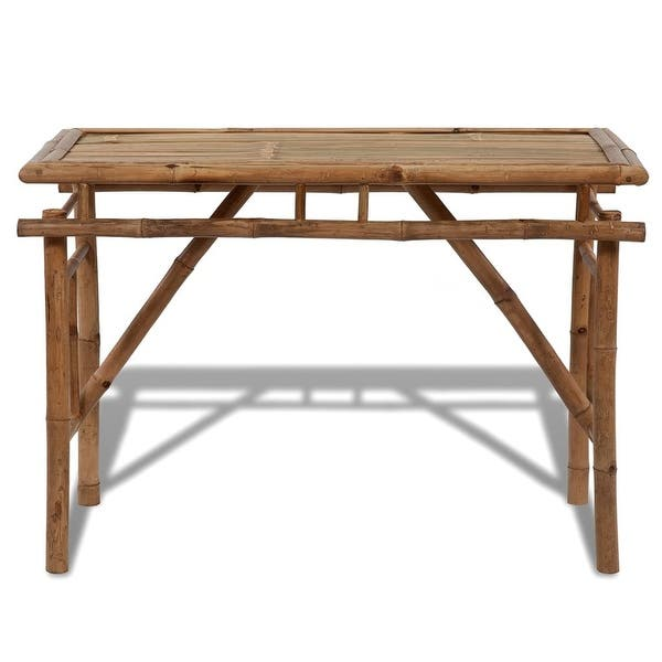 Pleasant Shop Vidaxl Folding Outdoor Table Bamboo 47 2 Garden Patio Customarchery Wood Chair Design Ideas Customarcherynet