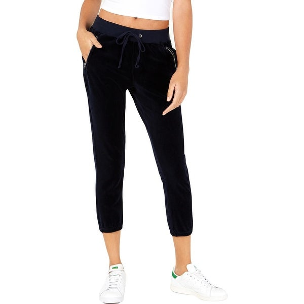 151af1b2b410 Juicy Couture Black Label Womens Silverlake Track Pants Velour High-Waisted