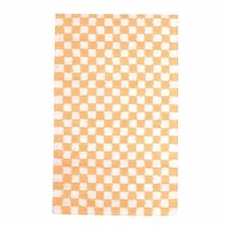 Rectangular Area Rug 8' x 2' 6 Yellow Cotton