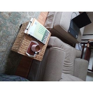 Porch & Den Westphalian Wicker Storage Filing Cabinet & Printer Stand