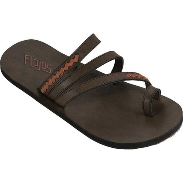 4ca3d43d5778 Shop Flojos Women s Athena Toe Loop Sandal Brown Tan Microfiber - On Sale -  Free Shipping On Orders Over  45 - Overstock - 20561532