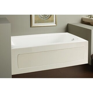 """Mirabelle MIRPRS6032R Provincetown 60"""" X 32"""" Three-Wall Alcove Soaking Tub with Right Hand Drain"""