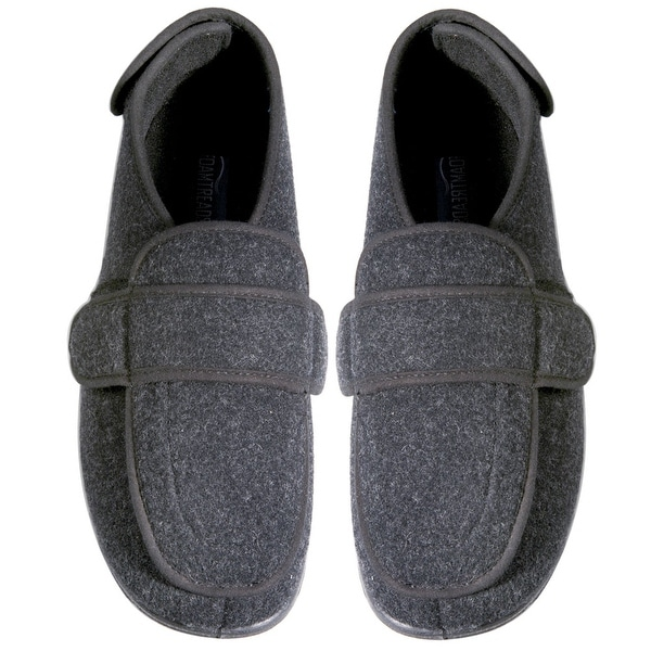 Women's Foamtreads Dark Gray Comfort Slippers - Wide