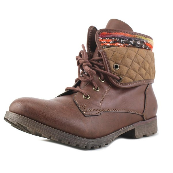 Rock & Candy Spraypaint Tribal Women Round Toe Synthetic Brown Ankle Boot