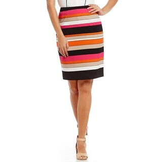 Kasper Petite Striped Pencil Skirt