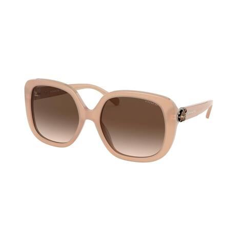 Coach HC8292F 561113 56 Milky Beige Woman Square Sunglasses