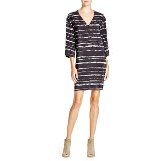 Vince Womens Casual Dress Silk Shadow Stripe