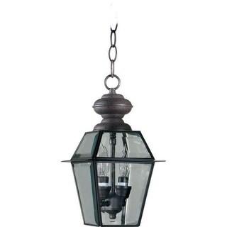 "Quorum International Q728-2 Duvall 7"" Wide 2 Light Pendant with Glass Shade"
