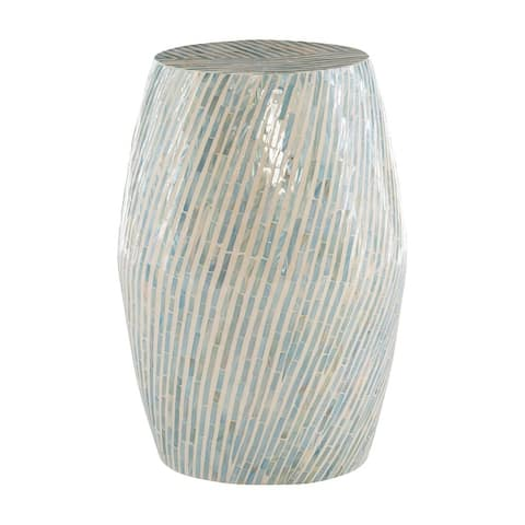 Prague Capiz Zebra Mosaic Drum Table