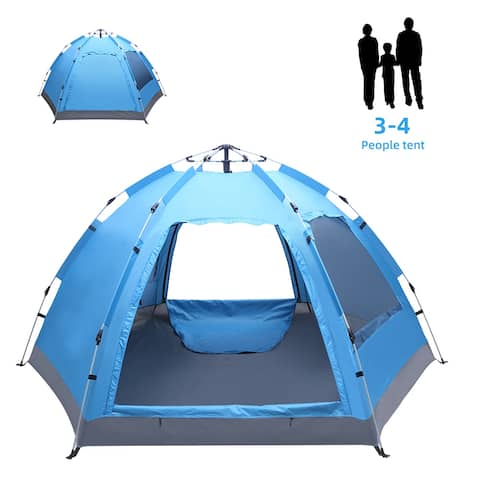 "110"" Outdoor Automatic Family Camping Tent Pop Up"