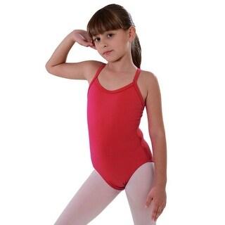 So Danca Red Rhinestone Band Dance Tank Leotard Little Girls 2-14