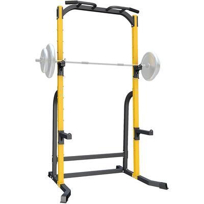 ZENOVA Power Rack Squat Rack with J-Hooks and Dip Bar, 800LBS Weight Capacity - 600LBS