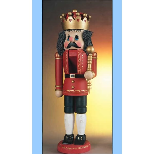 """19"""" Zims Happiest Nutcrackers in the World Red King Christmas Figure - multi"""