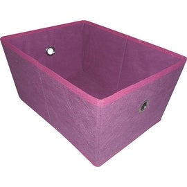 Homebasix 05000949P Storage Bin, Purple