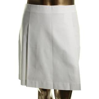 Lauren Ralph Lauren Womens Pleated Skirt Stretch Pleated