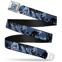 Marvel Universe Black Cat Face Full Color Black Cat Poses Grays Black Seatbelt Belt
