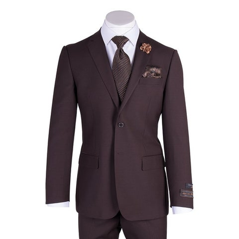 Novello Suit - Brown, Modern Fit