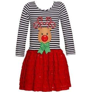 Bonnie Jean Little Girls Red Green Dot Bow Deer Applique Christmas Dress|https://ak1.ostkcdn.com/images/products/is/images/direct/b0b4de7f7f282934c35f8e1a7bf991c7c0b69fdc/Bonnie-Jean-Little-Girls-Red-Green-Dot-Bow-Deer-Applique-Christmas-Dress-2T-6X.jpg?impolicy=medium