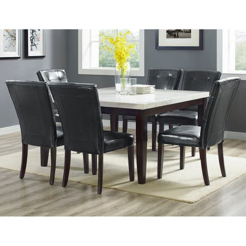 Fairfax White Marble Square 7PC Dining Set by Greyson Living
