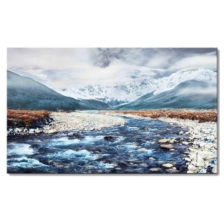 Snow Mountain Canvas Wall Art Panels Wall Pictures Canvas Prints Artwork for Living Room, Home, Bedroom Decoration