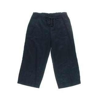Lauren Ralph Lauren Womens Linen Flat Front Capri Pants - S