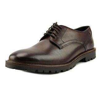 Base London Barrage Men  Round Toe Leather Brown Oxford
