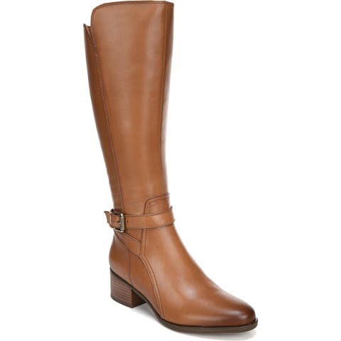 Naturalizer Womens Riding Boots Leather Tall - Light Maple