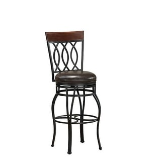 "American Heritage Billiards Bella Counter Stool Bella 41.5"" Tall Metal Frame Counter Stool"