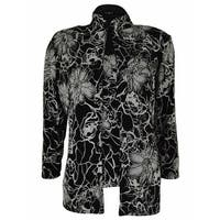 Onyx Nite Women's 2PC Glitter Floral Blouse Set