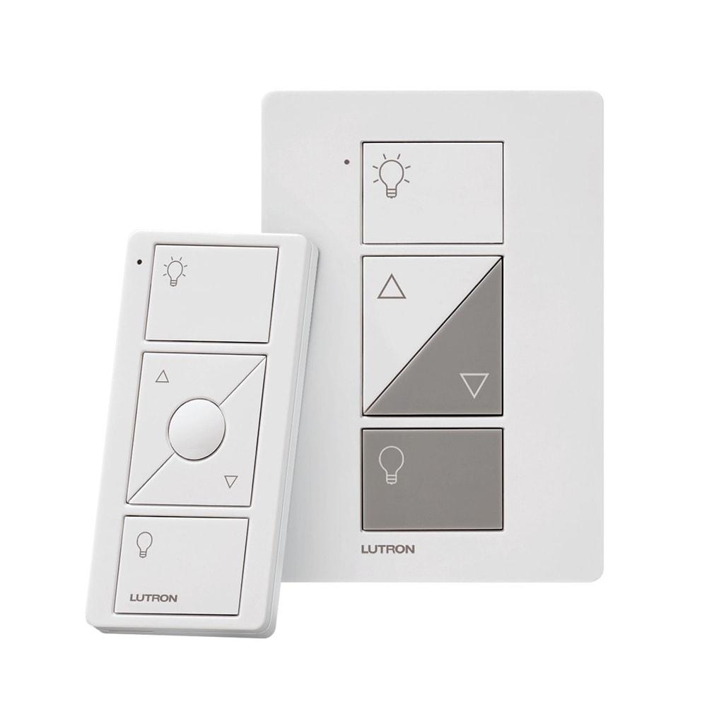 Lutron P-PKG1P-WH-R Caseta Wireless Smart Lighting Lamp Dimmer and Remote Kit, White
