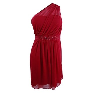 Adrianna Papell Women's One-Shoulder Embellished Dress