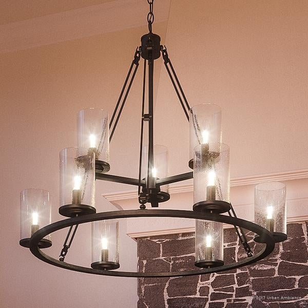 "Shop Luxury Industrial Chandelier, 30""H X 33""W, With"