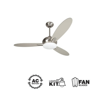 "Craftmade LO52 Loris 52"" 3 Blade Indoor Ceiling Fan - Blades and Light Kit Included"