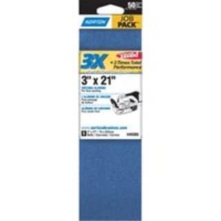 "Norton 07660749265 Power Sanding Belts, 3"" x 21"""