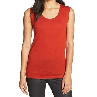 Eileen Fisher NEW Red Scoop-Neck Women's Size XL Tank Cami Wool Top