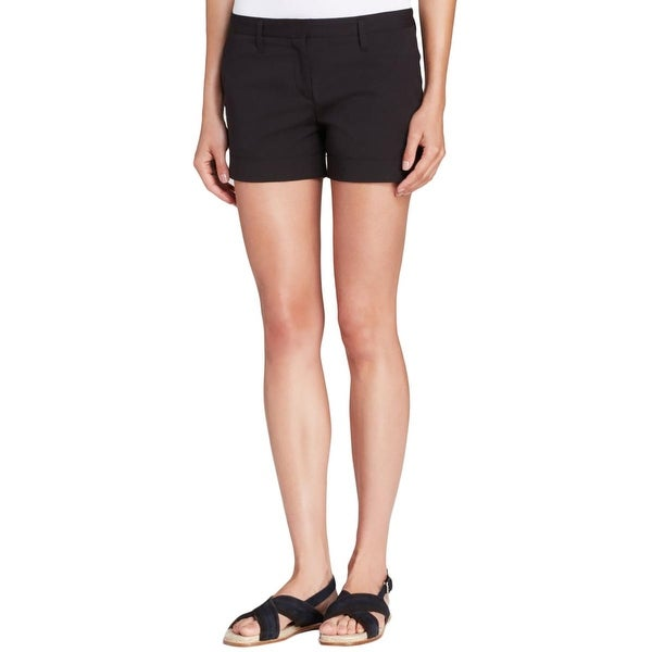 c41e8b27d1 Shop Theory Womens Alem Casual Shorts Cuffed Hem Flat Front - 4 - Free  Shipping Today - Overstock - 17161547
