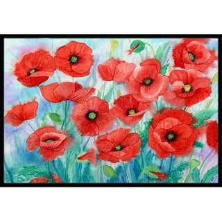 Carolines Treasures IBD0258JMAT Poppies Indoor or Outdoor Mat 24 x 36