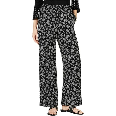 Michael Kors Womens Floral Pull On Casual Trouser Pants