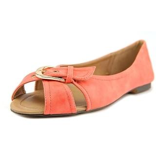 GC Shoes Sunday Women Open-Toe Synthetic Orange Flats