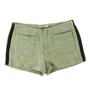 Rachel Roy Womens Beau Tweed Metallic Casual Shorts - 4