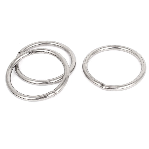 Shop 70mm X 6mm Stainless Steel Webbing Strapping Welded O Rings 3