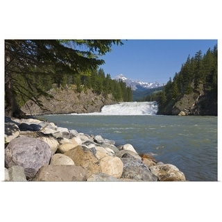 """Bow River and falls, Banff, Alberta, Canada"" Poster Print"