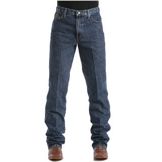 Cinch Western Denim Jeans Mens Green Label Relaxed - dark stonewash