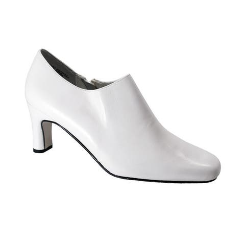 PEERAGE Sorrel Womens Extra Wide Width Leather Dress Ankle Booties