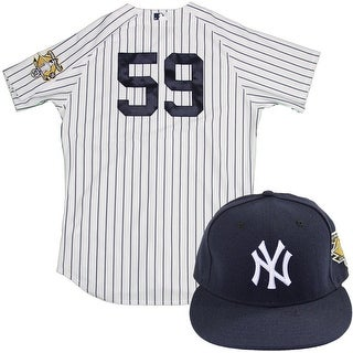 Rob Thomson Uniform  NY Yankees 2015 Game Used 59 Jersey and Hat  w Bernie Retirement Patch