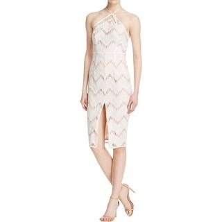 Stylestalker Womens Miranda Casual Dress Embroidered Criss-Cross Neck