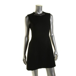 French Connection Womens Sleeveless Embellished Cocktail Dress