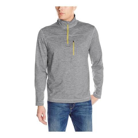 G.H. Bass & Co. Mens Trail-Flex Explorer Sweatshirt, Grey, Large